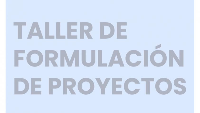 Taller de formulación de proyectos: artísticos y sociales.